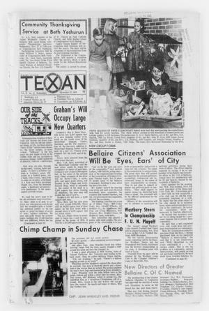 Primary view of object titled 'The Bellaire & Southwestern Texan (Bellaire, Tex.), Vol. 15, No. 41, Ed. 1 Wednesday, November 27, 1968'.