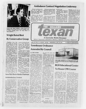Primary view of object titled 'The Bellaire Texan (Bellaire, Tex.), Vol. 24, No. 37, Ed. 1 Wednesday, January 18, 1978'.