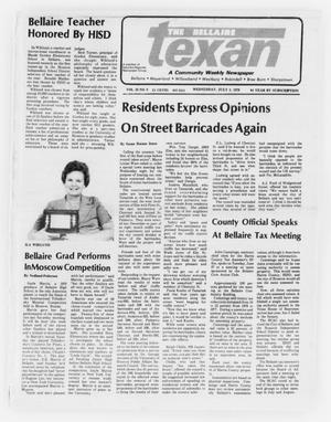 Primary view of object titled 'The Bellaire Texan (Bellaire, Tex.), Vol. 25, No. 9, Ed. 1 Wednesday, July 5, 1978'.