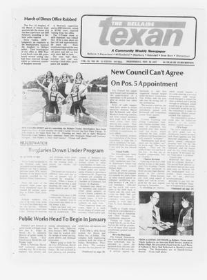 Primary view of object titled 'The Bellaire Texan (Bellaire, Tex.), Vol. 24, No. 29, Ed. 1 Wednesday, November 23, 1977'.