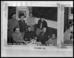 Primary view of object titled 'Eight Military Men at Table'.