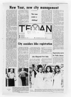 Primary view of object titled 'The Bellaire & Southwestern Texan (Bellaire, Tex.), Vol. 18, No. 43, Ed. 1 Wednesday, January 5, 1972'.