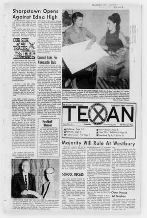 Primary view of object titled 'The Bellaire & Southwestern Texan (Bellaire, Tex.), Vol. 15, No. 31, Ed. 1 Wednesday, September 18, 1968'.