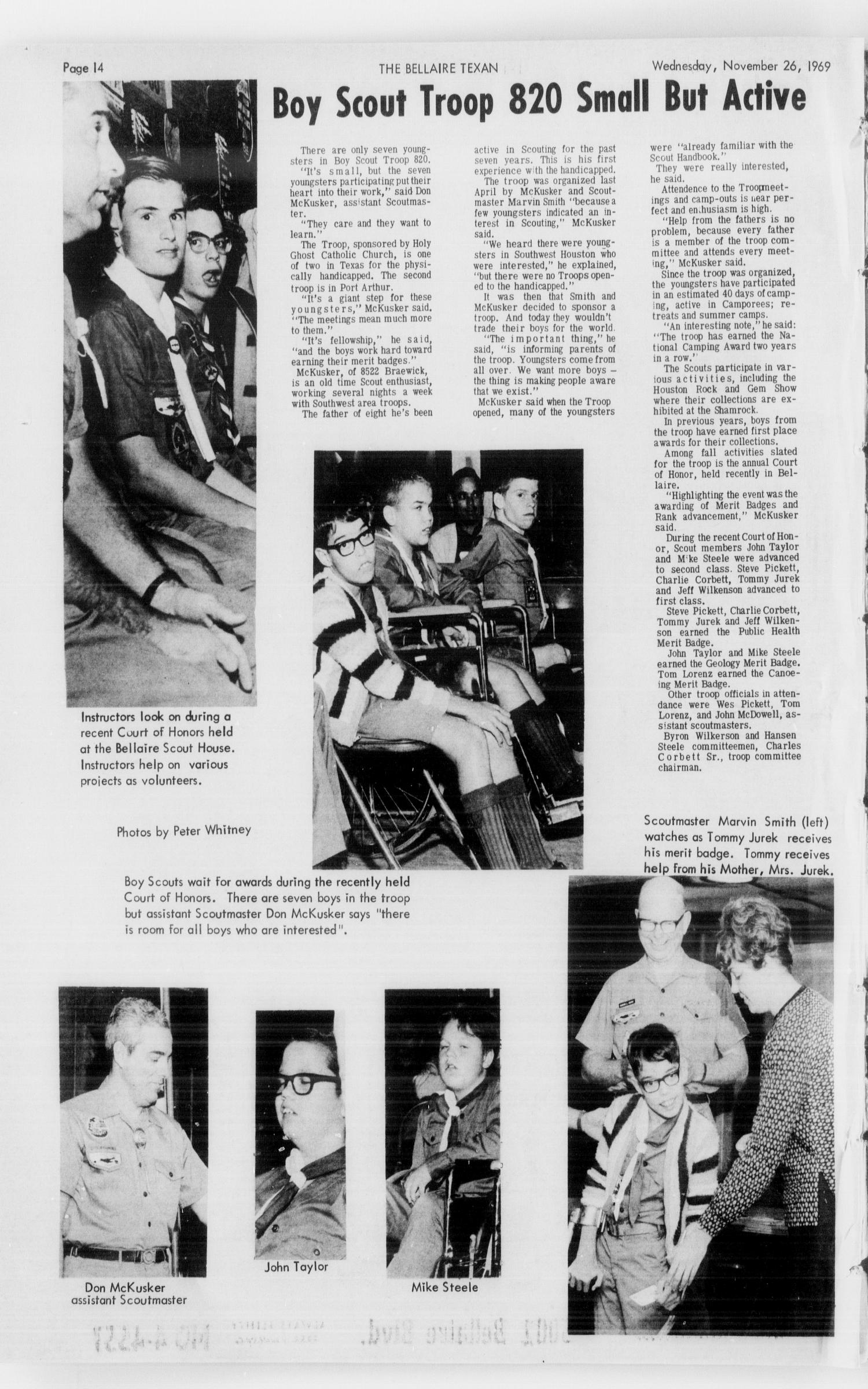 The Bellaire & Southwestern Texan (Bellaire, Tex.), No. 28, Ed. 1 Wednesday, November 26, 1969                                                                                                      [Sequence #]: 14 of 28