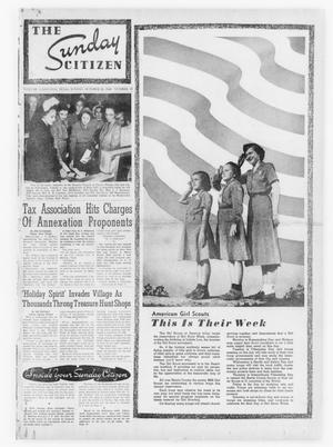 Primary view of object titled 'The Sunday Citizen (Houston, Tex.), Vol. 3, No. 25, Ed. 1 Sunday, October 30, 1949'.