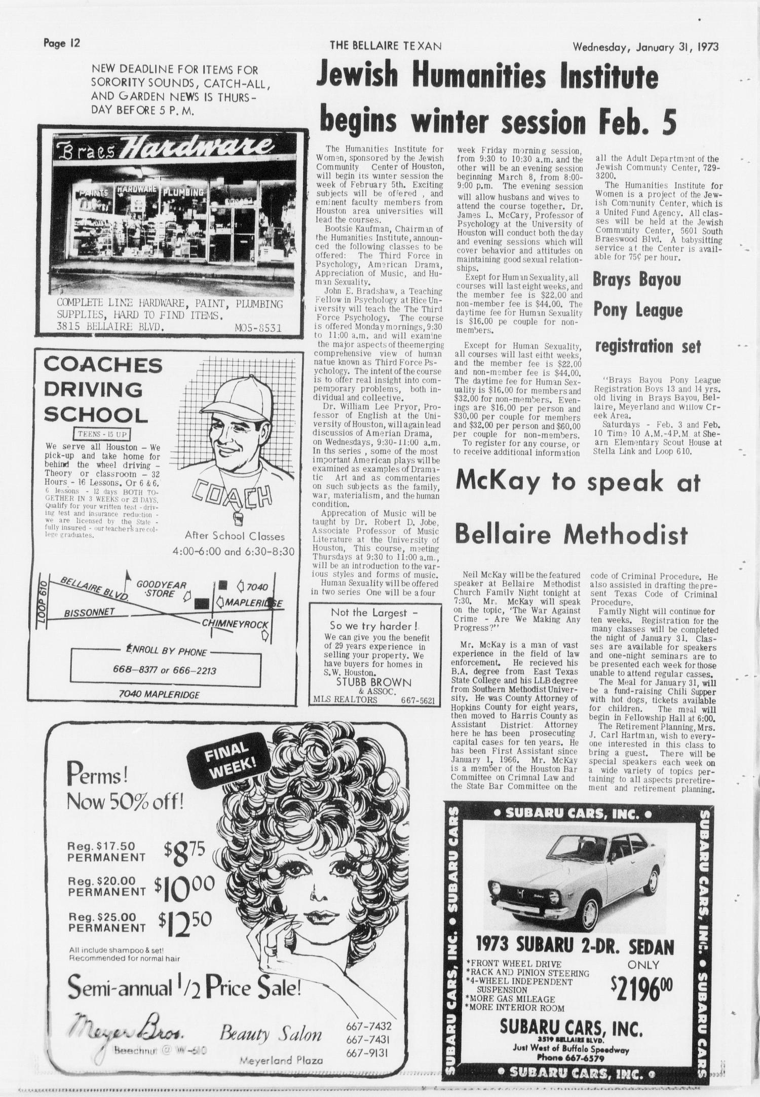 The Bellaire & Southwestern Texan (Bellaire, Tex ), Vol  19, No  43