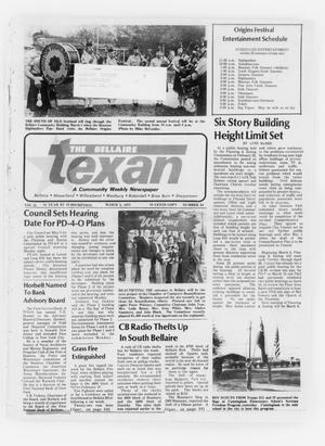 Primary view of object titled 'The Bellaire Texan (Bellaire, Tex.), Vol. 25, No. 24, Ed. 1 Wednesday, March 2, 1977'.
