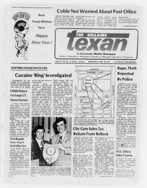 Primary view of object titled 'The Bellaire Texan (Bellaire, Tex.), Vol. 24, No. 34, Ed. 1 Wednesday, December 28, 1977'.