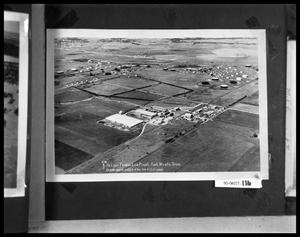 Primary view of object titled 'Aerial View of Buildings'.