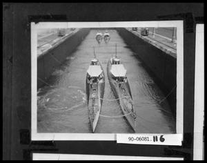 Primary view of object titled 'Four Ships in Canal Locks'.