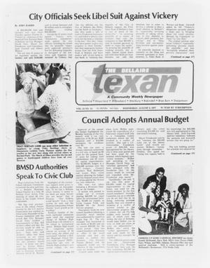 Primary view of object titled 'The Bellaire Texan (Bellaire, Tex.), Vol. 24, No. 13, Ed. 1 Wednesday, August 3, 1977'.