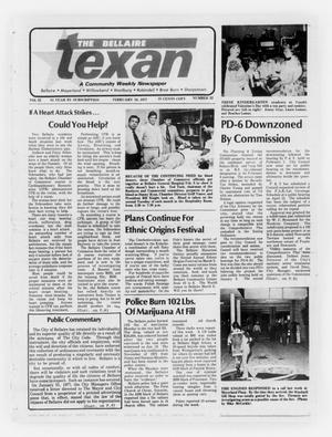 Primary view of object titled 'The Bellaire Texan (Bellaire, Tex.), Vol. 25, No. 22, Ed. 1 Wednesday, February 16, 1977'.