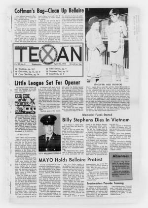 Primary view of object titled 'The Bellaire & Southwestern Texan (Bellaire, Tex.), Vol. 17, No. 8, Ed. 1 Wednesday, April 15, 1970'.