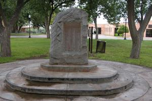 Primary view of object titled 'Pecos County WW I Memorial'.