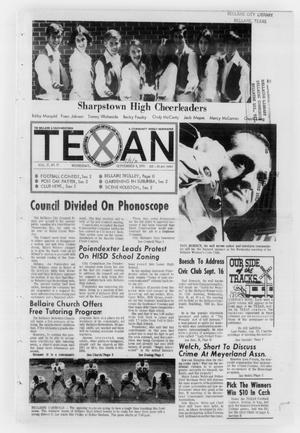 Primary view of object titled 'The Bellaire & Southwestern Texan (Bellaire, Tex.), Vol. 17, No. 27, Ed. 1 Wednesday, September 9, 1970'.