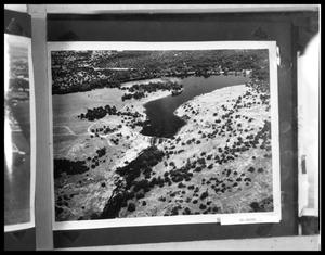 Primary view of object titled 'Aerial View of Dam'.