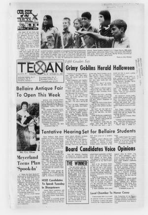 Primary view of object titled 'The Bellaire & Southwestern Texan (Bellaire, Tex.), No. 25, Ed. 1 Wednesday, October 29, 1969'.
