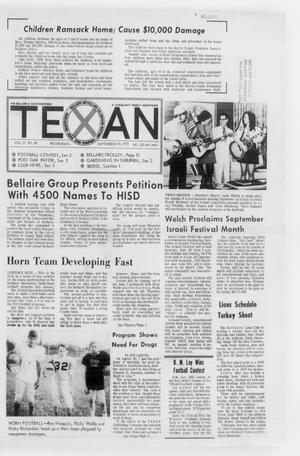 Primary view of object titled 'The Bellaire & Southwestern Texan (Bellaire, Tex.), Vol. 17, No. 28, Ed. 1 Wednesday, September 16, 1970'.