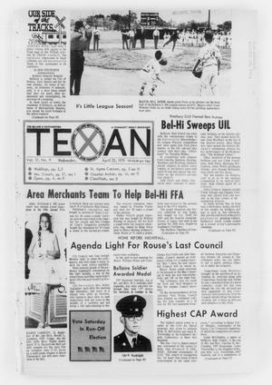 Primary view of object titled 'The Bellaire & Southwestern Texan (Bellaire, Tex.), Vol. 17, No. 9, Ed. 1 Wednesday, April 22, 1970'.