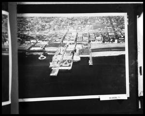 Primary view of object titled 'Aerial View of Pier and Amusement Park'.