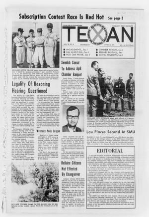 Primary view of object titled 'The Bellaire & Southwestern Texan (Bellaire, Tex.), Vol. 18, No. 6, Ed. 1 Wednesday, April 14, 1971'.