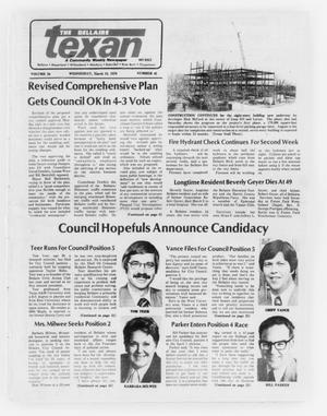 Primary view of object titled 'The Bellaire Texan (Bellaire, Tex.), Vol. 24, No. 45, Ed. 1 Wednesday, March 15, 1978'.