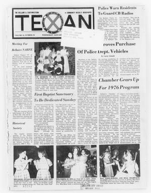 Primary view of object titled 'The Bellaire & Southwestern Texan (Bellaire, Tex.), Vol. 24, No. 36, Ed. 1 Wednesday, January 7, 1976'.