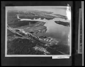 Primary view of object titled 'Aerial View of Lake and Buildings'.