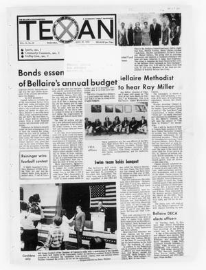 Primary view of object titled 'The Bellaire & Southwestern Texan (Bellaire, Tex.), Vol. 19, No. 26, Ed. 1 Wednesday, September 27, 1972'.