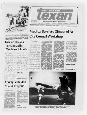 Primary view of object titled 'The Bellaire Texan (Bellaire, Tex.), Vol. 25, No. 10, Ed. 1 Wednesday, July 12, 1978'.
