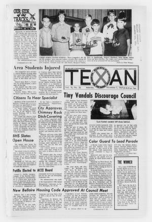 Primary view of object titled 'The Bellaire & Southwestern Texan (Bellaire, Tex.), No. 26, Ed. 1 Wednesday, November 5, 1969'.