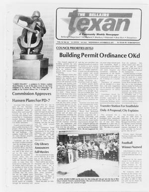 Primary view of object titled 'The Bellaire Texan (Bellaire, Tex.), Vol. 24, No. 23, Ed. 1 Wednesday, October 12, 1977'.