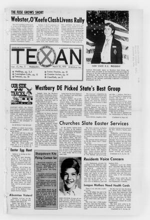 Primary view of object titled 'The Bellaire & Southwestern Texan (Bellaire, Tex.), Vol. 17, No. 3, Ed. 1 Wednesday, March 25, 1970'.