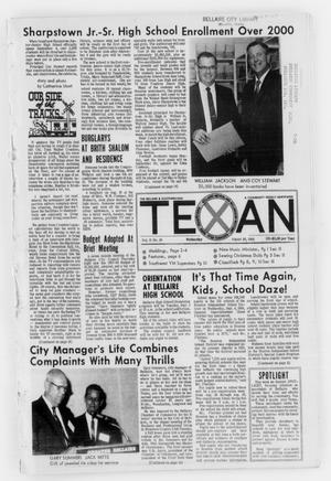 Primary view of object titled 'The Bellaire & Southwestern Texan (Bellaire, Tex.), Vol. 15, No. 28, Ed. 1 Wednesday, August 28, 1968'.