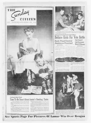 Primary view of object titled 'The Sunday Citizen (Houston, Tex.), Vol. 3, No. 29, Ed. 1 Sunday, November 13, 1949'.