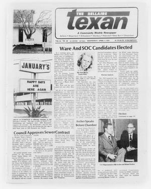 Primary view of object titled 'The Bellaire Texan (Bellaire, Tex.), Vol. 24, No. 48, Ed. 1 Wednesday, April 5, 1978'.