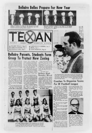 Primary view of object titled 'The Bellaire & Southwestern Texan (Bellaire, Tex.), Vol. 17, No. 26, Ed. 1 Wednesday, September 2, 1970'.