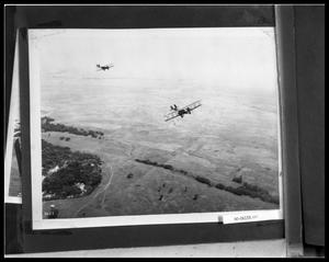 Primary view of object titled 'Two Bi-Planes in Flight'.