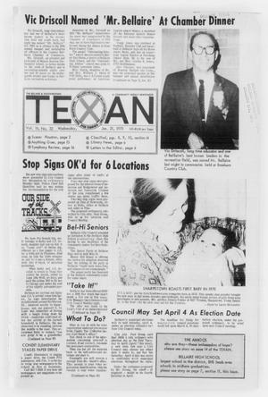 Primary view of object titled 'The Bellaire & Southwestern Texan (Bellaire, Tex.), No. 32, Ed. 1 Wednesday, January 21, 1970'.