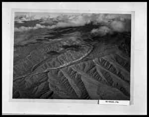 Primary view of object titled 'Aerial View of Mountains and River'.