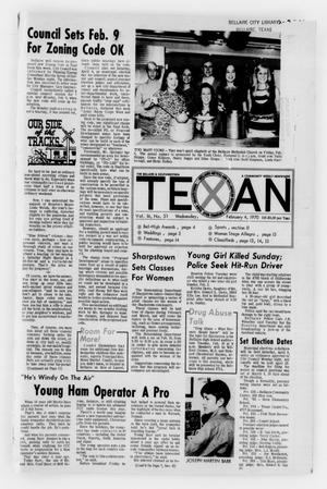 Primary view of object titled 'The Bellaire & Southwestern Texan (Bellaire, Tex.), Vol. 16, No. 51, Ed. 1 Wednesday, February 4, 1970'.