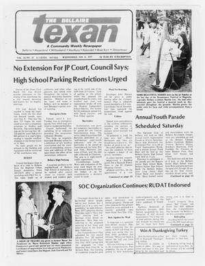 Primary view of object titled 'The Bellaire Texan (Bellaire, Tex.), Vol. 24, No. 27, Ed. 1 Wednesday, November 9, 1977'.