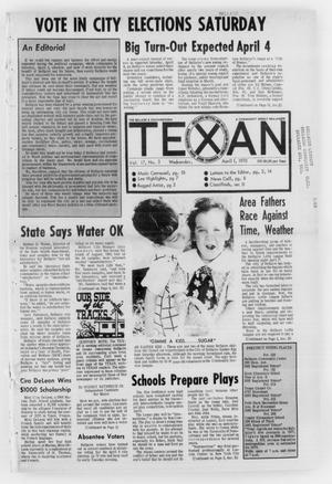 Primary view of object titled 'The Bellaire & Southwestern Texan (Bellaire, Tex.), Vol. 17, No. 3, Ed. 1 Wednesday, April 1, 1970'.