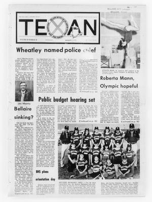 Primary view of object titled 'The Bellaire & Southwestern Texan (Bellaire, Tex.), Vol. 20, No. 18, Ed. 1 Wednesday, August 1, 1973'.