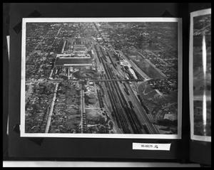 Primary view of object titled 'Aerial View of Railroad Yard'.