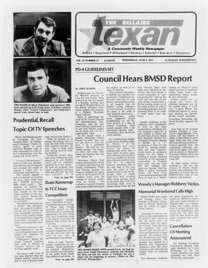 Primary view of object titled 'The Bellaire Texan (Bellaire, Tex.), Vol. 24, No. 15, Ed. 1 Wednesday, June 8, 1977'.