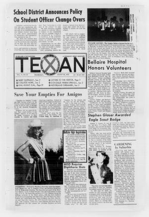 Primary view of object titled 'The Bellaire & Southwestern Texan (Bellaire, Tex.), Vol. 17, No. 25, Ed. 1 Wednesday, August 26, 1970'.