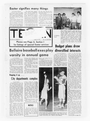 Primary view of object titled 'The Bellaire & Southwestern Texan (Bellaire, Tex.), Vol. 20, No. 3, Ed. 1 Wednesday, April 18, 1973'.
