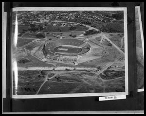 Primary view of object titled 'Aerial View of Sports Stadium'.