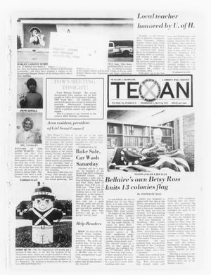 Primary view of object titled 'The Bellaire & Southwestern Texan (Bellaire, Tex.), Vol. 24, No. 2, Ed. 1 Wednesday, May 14, 1975'.